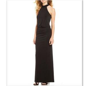 NWT Laundry Shelli Segal Halter Mock Jersey Dress8